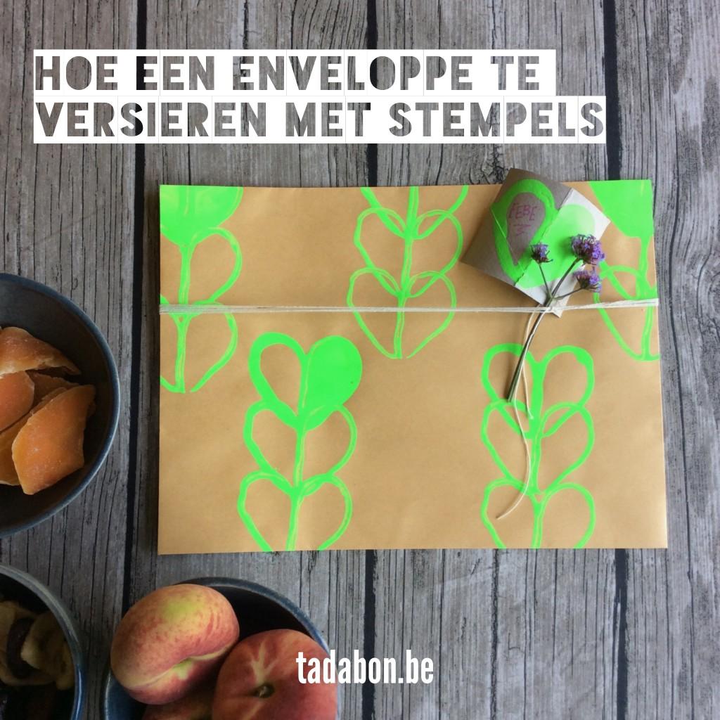 Cadeautip knutseltip zelf een stempel maken en enveloppes versieren cadeautips blog - Hoe om te versieren haar eetkamer ...