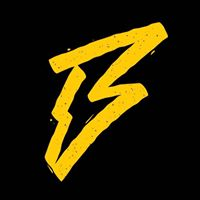 Black and yellow logo